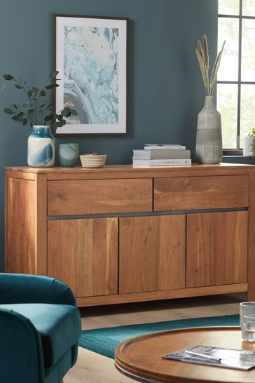 Amsterdam Acacia Wood Large Sideboard with Drawers