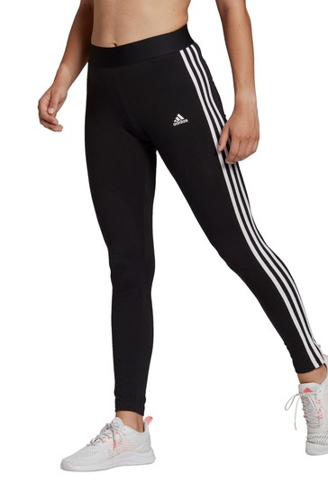 adidas Black 3 Stripe Leggings