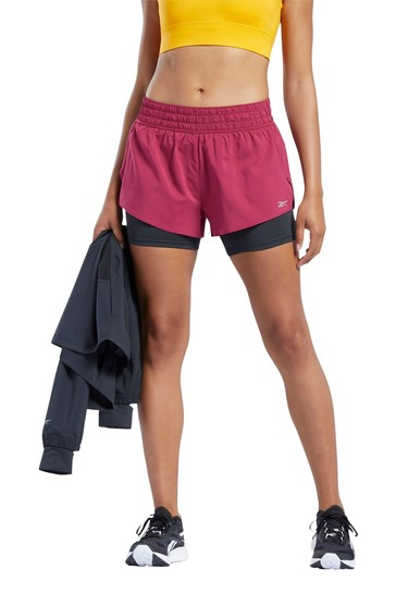Reebok Work Out Ready 2-In-1 Run Shorts