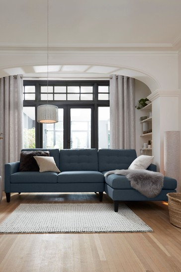 Buy Albie Corner Chaise Sofa With Black Feet From The Next Uk Online Shop