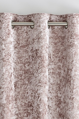 Crushed Velvet Eyelet Lined Curtains, How To Wash Crushed Velvet Curtains