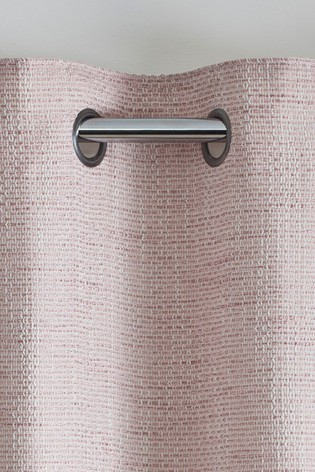 Chunky Weave Eyelet Lined Curtains