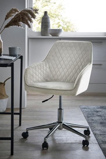 Hamilton Arm Office Desk Chair with Chrome Base