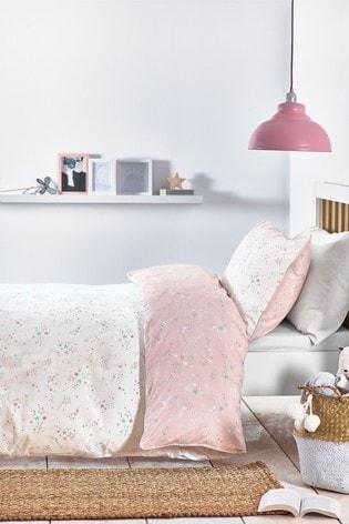 GOTS Organic Cotton Reversible Duvet Cover And Pillowcase Set