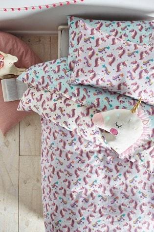 2 Pack Starry Unicorn Duvet Cover and Pillowcase Set