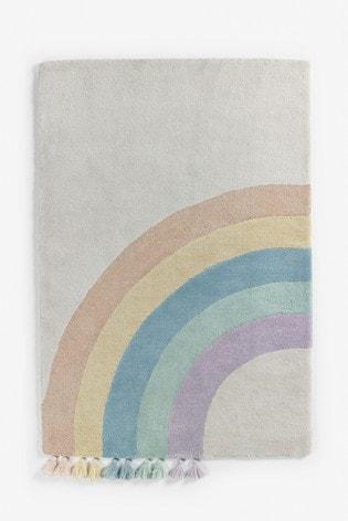 Rainbow Tassel Rug