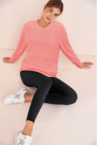 Pink Long Cosy V-Neck Tunic