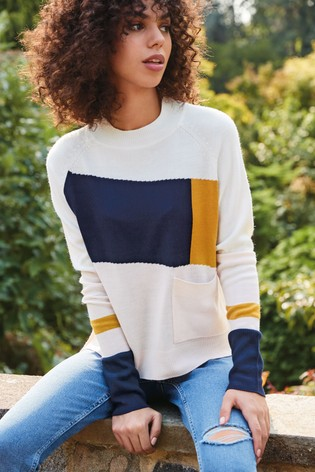 Colourblock Cosy Crew Jumper