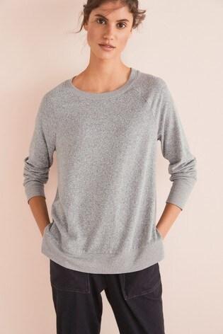 Grey Cosy Raglan Top