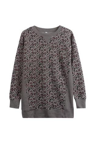 Charcoal Animal Longline Sweatshirt