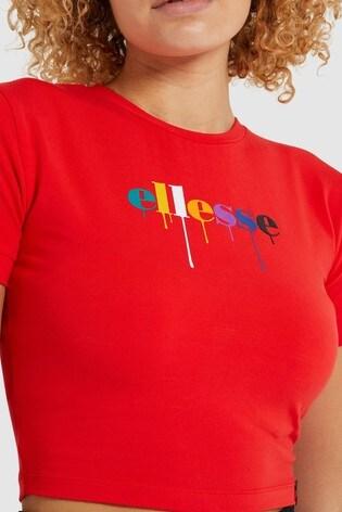 Ellesse™ Red Romancia Crop T-Shirt
