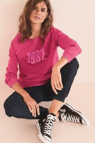 Pink Philadelphia Graphic Sweatshirt