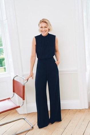 Navy Emma Willis Wide Leg Trousers