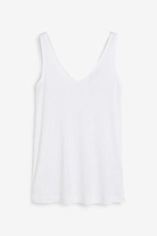 White Slouch Vest