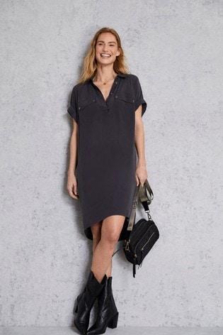 Mint Velvet Grey Easy Shirt Dress