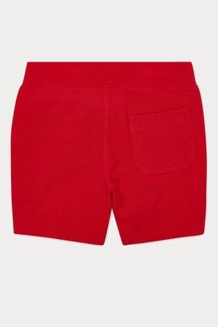 Ralph Lauren Red Logo Shorts