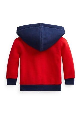 Ralph Lauren Red Polo Zip Hoodie