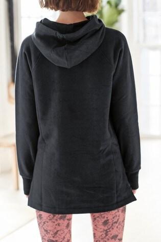 Black Longline Hoody