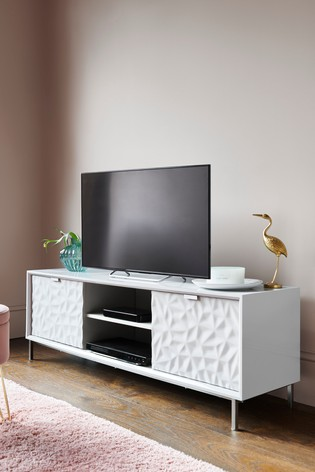 Mode Textured Wide Tv Stand