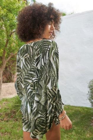 Khaki Palm Kimono