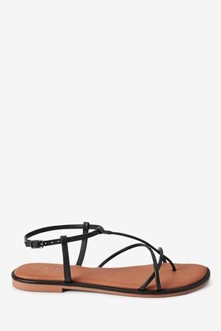 Black Regular/Wide Fit Forever Comfort® Strappy Sandals