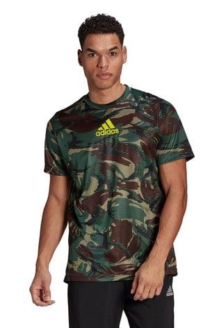 adidas Camo All Over Print T-Shirt