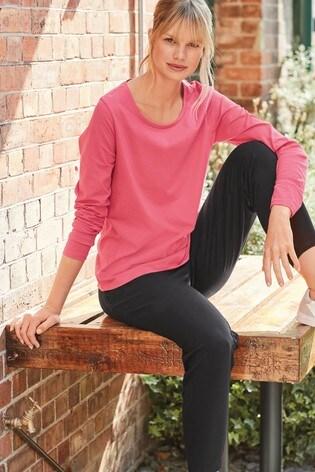Fuchsia Pink Long Sleeve Top