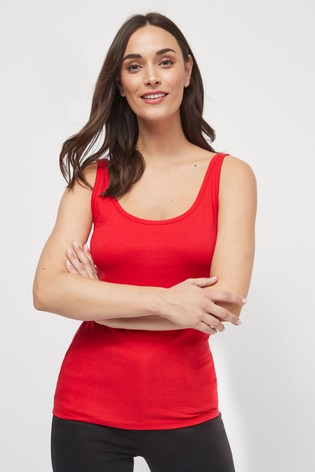 Red Thick Strap Vest