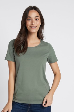 Khaki Green Crew Neck T-Shirt