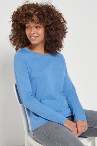 Pale Blue Long Sleeve Top