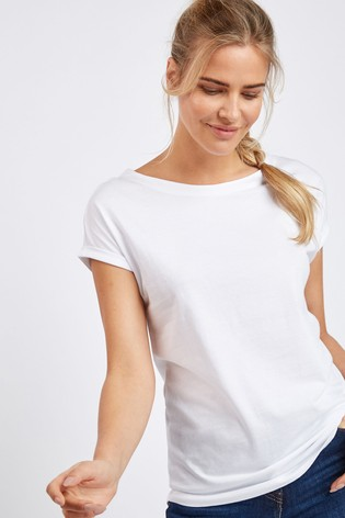 White Cap Sleeve T-Shirt