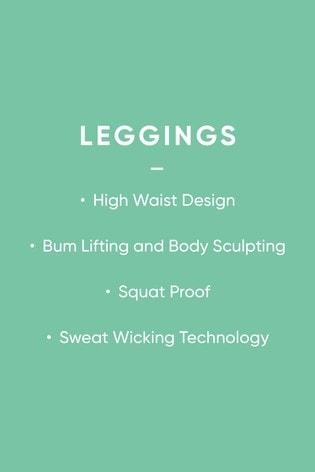 Black Textured High Waisted Full Length Sculpting Leggings