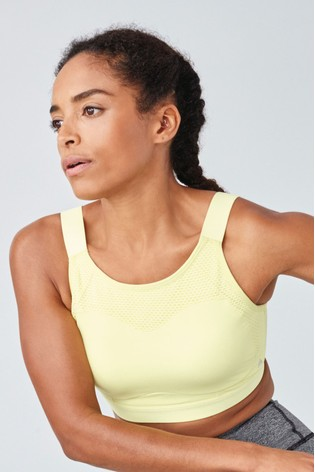 Lime High Impact Non Pad Non Wire Sports Bra