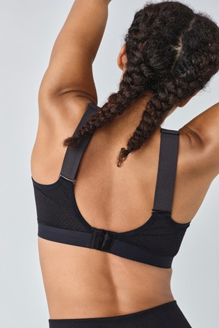 Black High Impact Non Pad Non Wire Sports Bra
