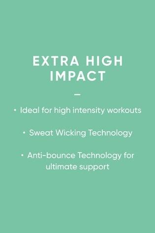 White Sports High Impact Non Pad Bra