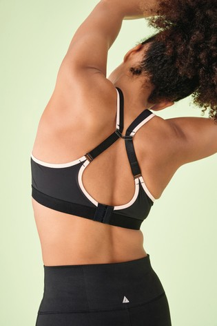 Coral/Black Sports High Impact Full Cup Underwire Bra