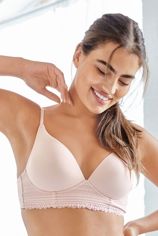 Pink Forever Comfort® Daisy Supersoft Wire Free Lightly Padded Lounge Bra