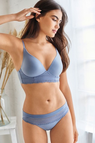 Blue High Leg Forever Comfort® Knickers