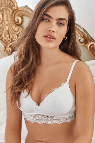 White Light Pad Non Wire Bra