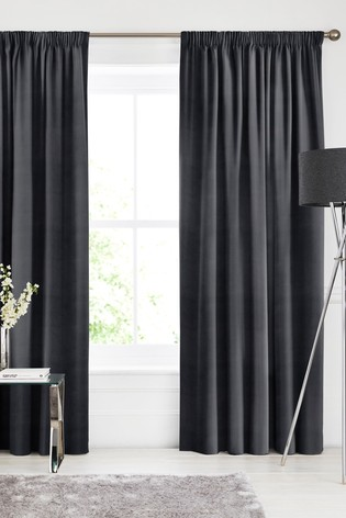 Otto Noir Black Made To Measure Curtains
