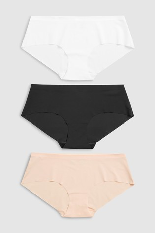 Black/White/Nude Short No VPL Knickers Three Pack
