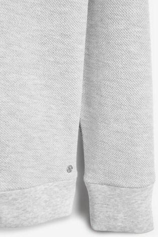 Grey Collared Sweat Top