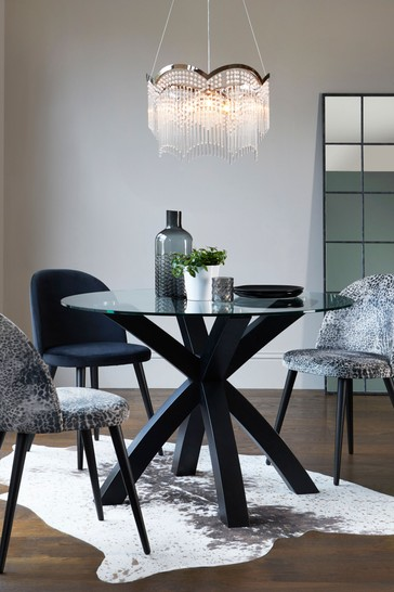 Oak Glass Round Dining Table From, Glass Round Dining Table
