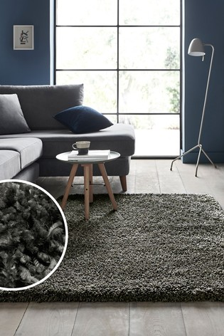 Charcoal Fozzy Rug