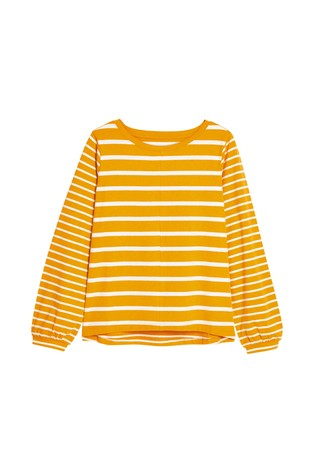 Ochre Stripe Long Sleeve T-Shirt