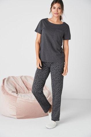 Charcoal Animal Cotton Blend Pyjamas