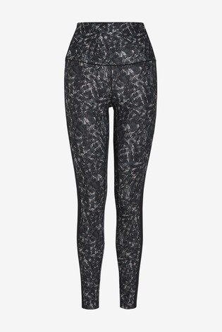 Monochrome Print High Waist Sculpting Sports Leggings