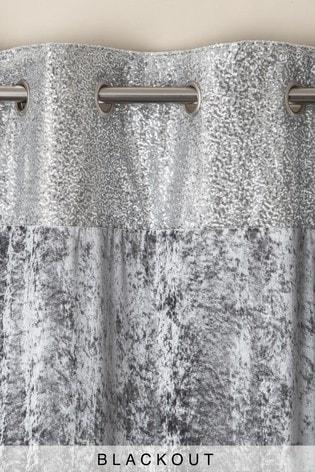 Sequin Border Velvet Eyelet Lined Curtains