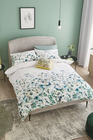 100% Cotton Waffle Floral Duvet Cover And Pillowcase Set