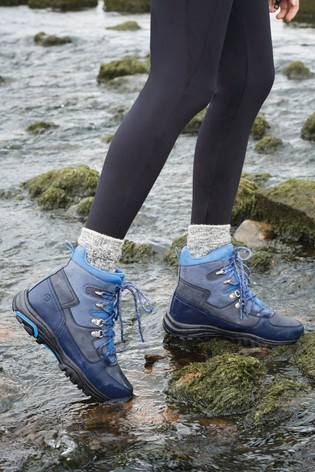 Navy Performance Waterproof Active Hiker Boots